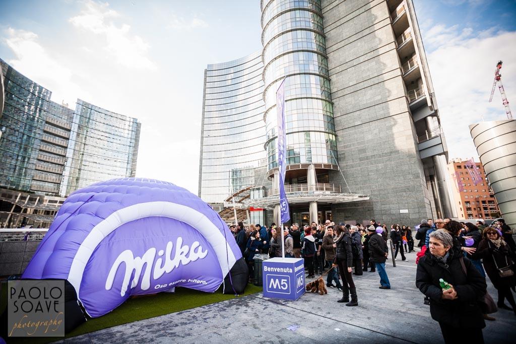 Inaugurazione Metro M5 Milano - Milka